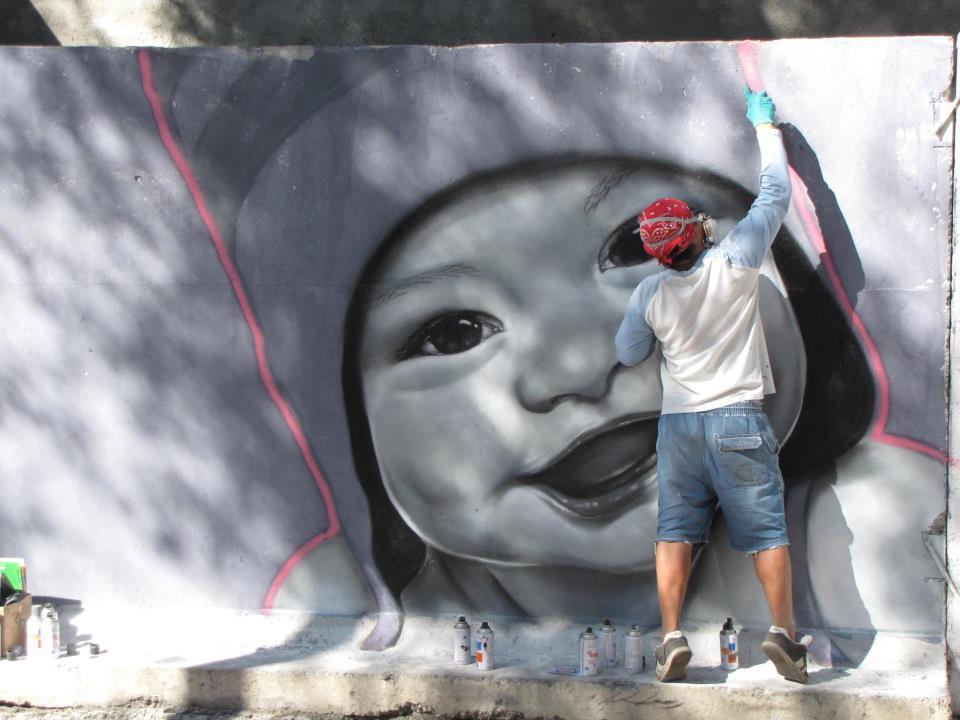 Baby - in Bearbeitung - Graffitiarbeit von Chase