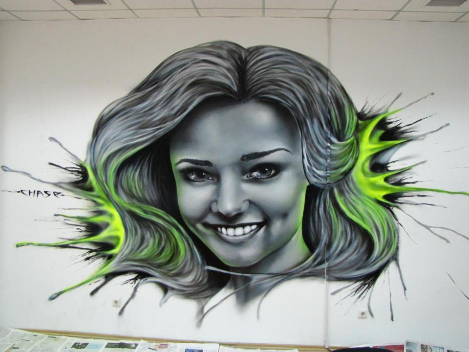 Graffiti -Frau von Chase
