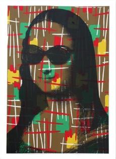 Vintage Mona Lisa Siebdruck // 89 x 89 cm // 35 Exemplare // recto signiert und nummeriert, verso Daumenabdruck