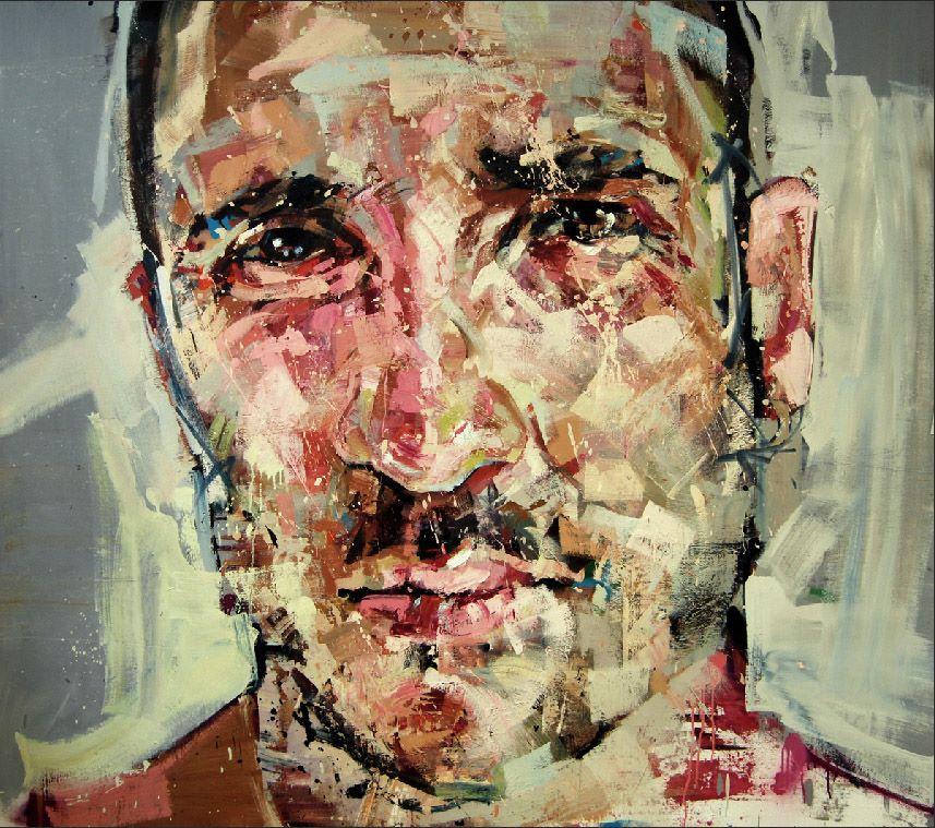 "Andrew Salgado - ""Slippage"" - Oil on canvas with spray paint 160 x 170 cm, 2013"