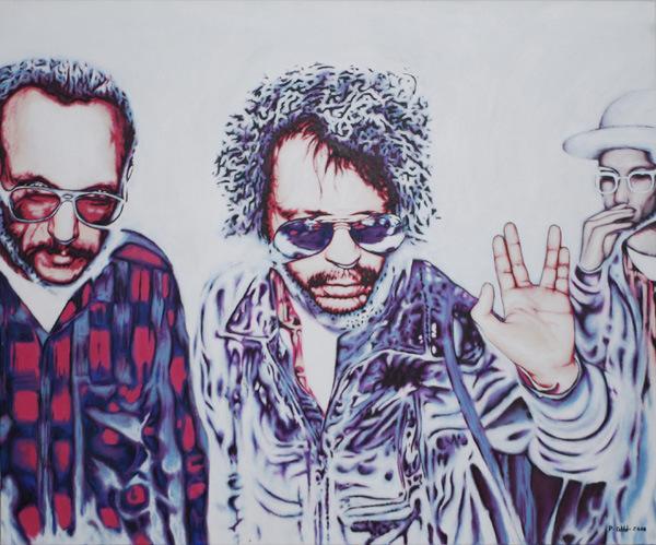 erster Kontakt, 2010, Acryl auf Leinwand, 100 x 120 cm