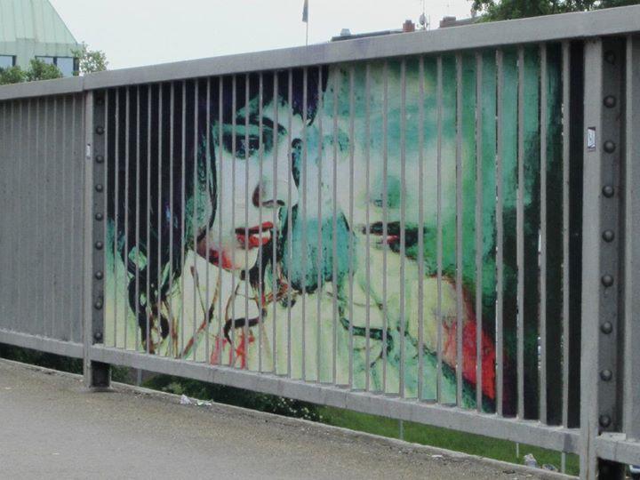 Zebrating Art - Frau