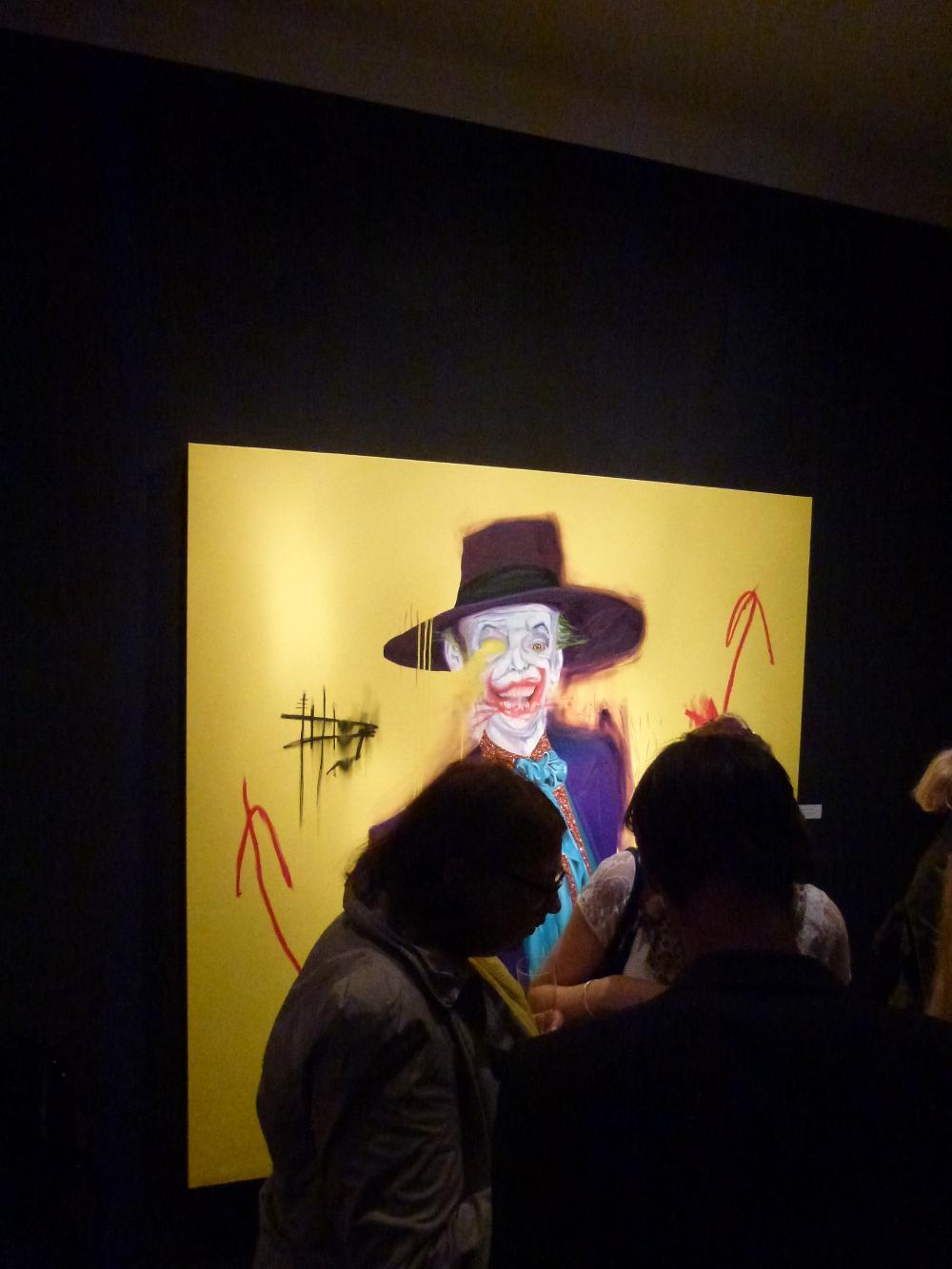 "George Morton-Clark – ""Bad Joke"" Oil, glitter and acrylic on canvas 170 x 180 cm 2013"