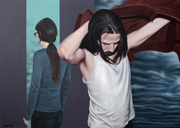 Ansichtssache, 2012, Acryl auf Leinwand, 100 x 140 cm