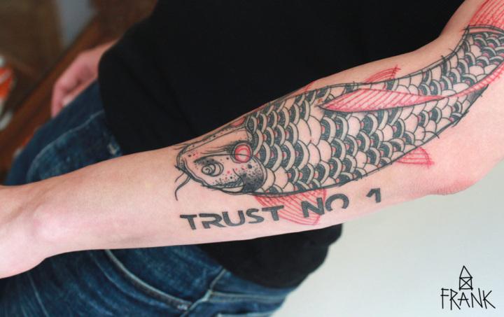 Koi-Karpfen - Trust No1 - von Miriam Frank