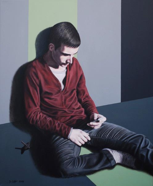 zu spät, 2011, Acryl auf Leinwand, 120 x 100 cm