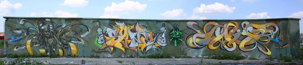 Wand am Viehhof, München - Foto-Collage