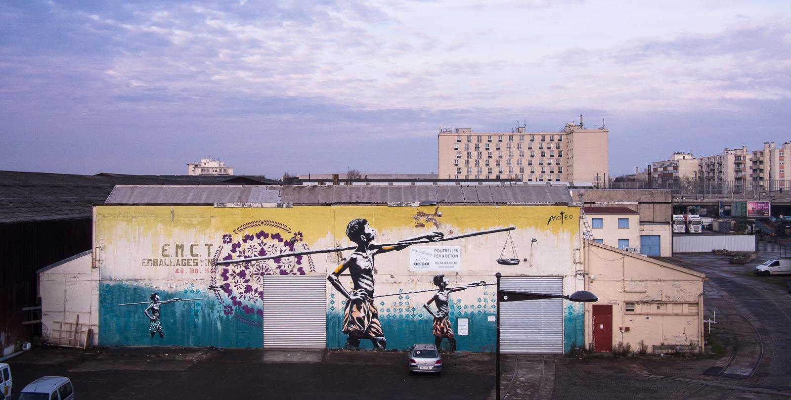 """ÉGALITÉ / 40x10 meters / RER station """"Le Bourget"""" Paris (FR) by: Mathieu Bories alias Mateo"""