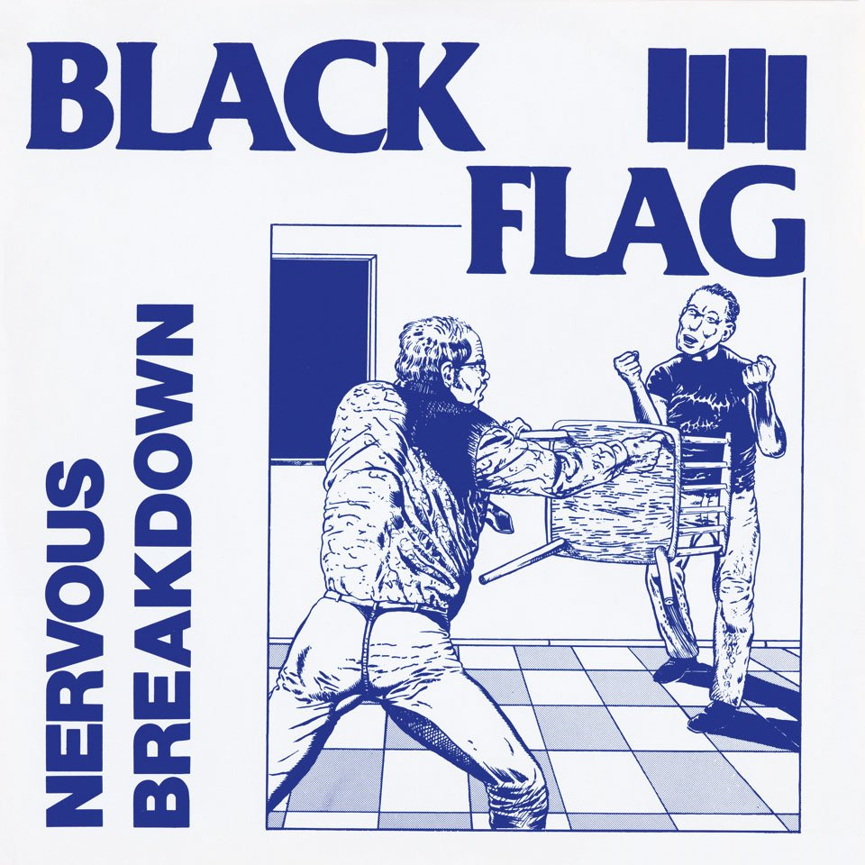 art: Raymond Pettibon / music: Black Flag / record: Nervous Breakdown / year: 1980 / label: SST Records / format: EP 7˝, 10˝ / artwork: Drawing