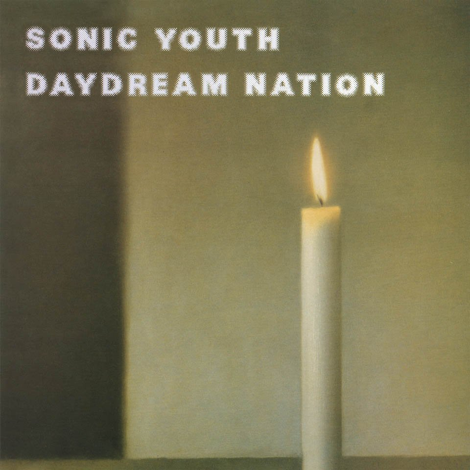 art: Gerhard Richter / music: Sonic Youth / record: Daydream Nation / year: 1988 / label: Enigma Records/Blast First / format: Album 2×12˝, CD / artwork: Painting, Kerze, 1983