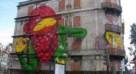 """OsGemeos (BR) Mit den brasilianischen Zwillingsbrüdern Otávio und Gustavo Pandolfo, die als Streetart-Künstlerduo OsGemeos bekannt sind, nehmen zwei der derzeit bedeutendsten Vertreter der StreetArt an SCALE teil. Ihre """"gelben Giganten"""" sind weltberühmt. Die Arbeiten der Beiden sind für ihre Detailfülle und ihren fein- und hintersinnigen Humor bekannt. Ihre Bilder prangten auf der Tate Modern London, dem MOCA Los Angeles. Bald folgen ihnen eine Million Instagram Abonnenten."""