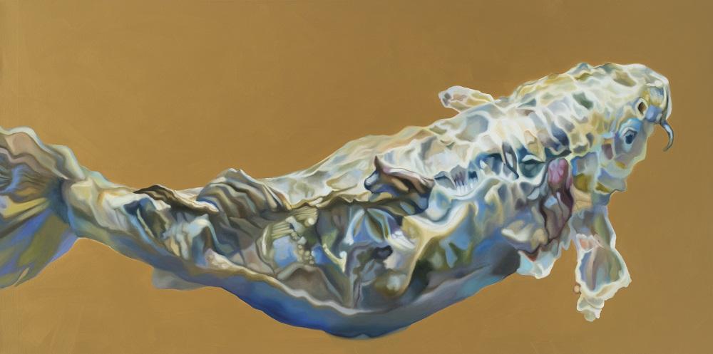 Hanne Kroll, Baham, 2017, Öl auf Leinwand, 100x 200cm