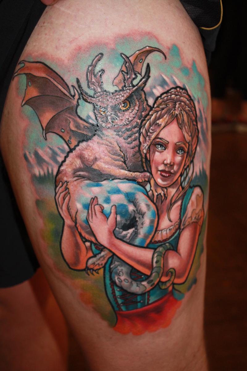 Das Logo der Tattoo-Tage von 2016 als Motiv verewigt