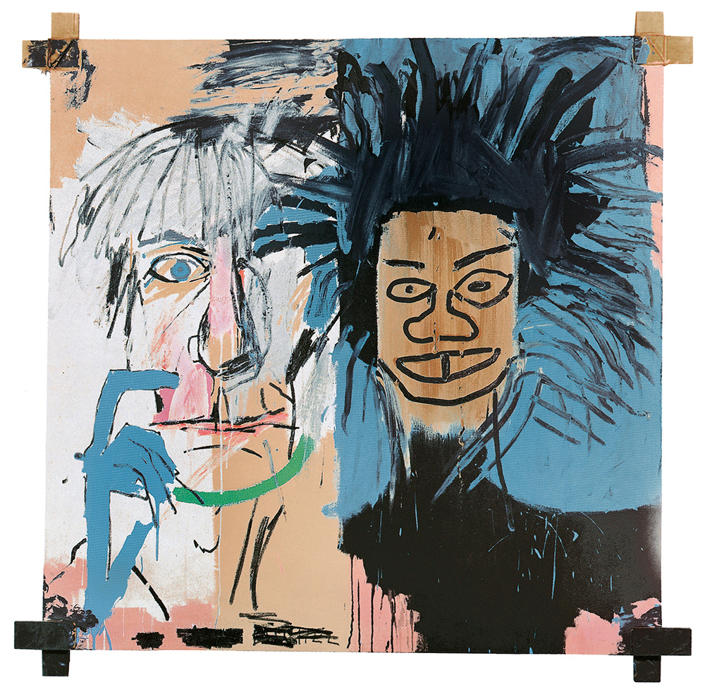 Schirn_Presse_Basquiat_Dos_Cabezas_1982.jpg Jean-Michel Basquiat, Dos Cabezas, 1982, Acrylic and oil stick on canvas with wooden supports, Private collection, © VG Bild-Kunst Bonn, 2017 & Estate of