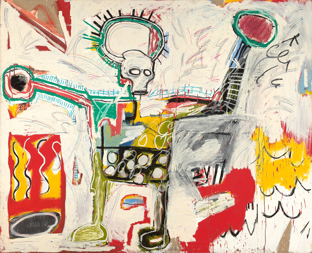 Schirn_Presse_Basquiat_Untitled_1982.jpg Jean-Michel Basquiat, Untitled, 1982, Acrylic and oil on linen, Museum Boijmans Van Beuningen, Rotterdam,© VG Bild-Kunst Bonn, 2017 & Estate of Jean-Michel Basquiat, Licensed by Artestar, New York, Courtesy Museum Boijmans Van Beuningen, Rotterdam, Foto: Studio Tromp, Rotterdam