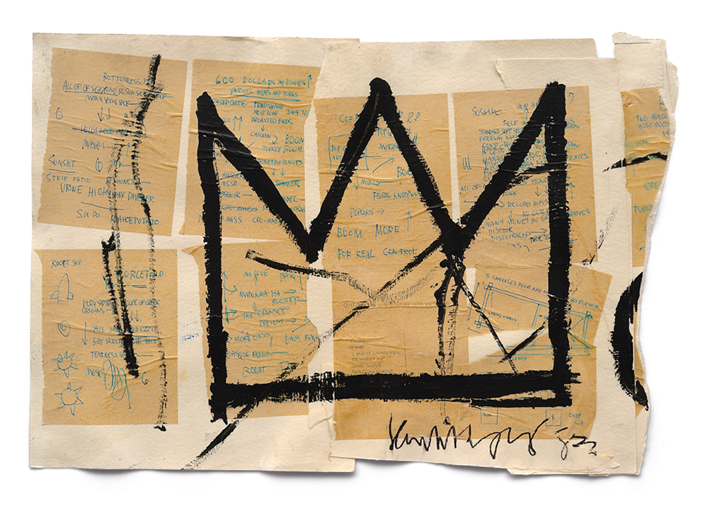 Schirn_Presse_Untitled_Crown__1982.jpg Jean-Michel Basquiat, Untitled (Crown), 1982, Acrylic, ink and paper collage on paper, Private collection, © VG Bild-Kunst Bonn, 2017 & Estate of Jean-Michel Basquiat. Licensed by Artestar, New York Powered by