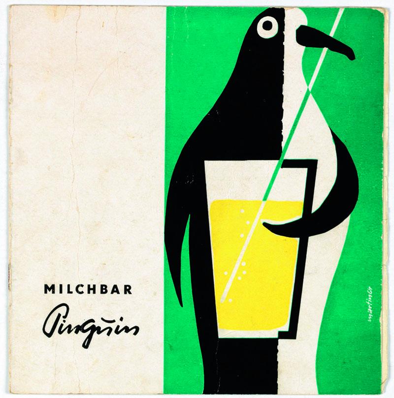 Bildunterschrift: Speisekarte, Milchbar Pinguin, Leipzig, 1960er-Jahre,18 x 16,5 cm | Copyright: The Wende Museum/TASCHEN