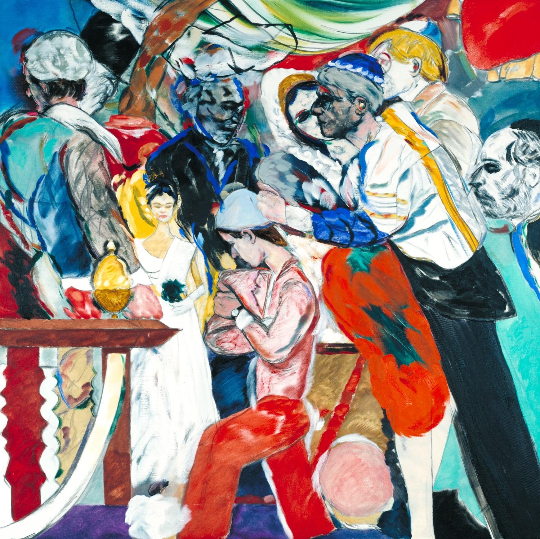 R.B. Kitaj 1932-2007 | The Wedding |1989-93 | Oil paint on canvas | 1829 x 1829 mm | Tate | © The estate of R. B. Kitaj