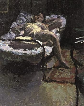Walter Richard Sickert, 1860-1942 | Nuit d'Été | c.1906 |Oil paint on canvas | 500 x 400 mm |Private Collection, Ivor Braka Ltd