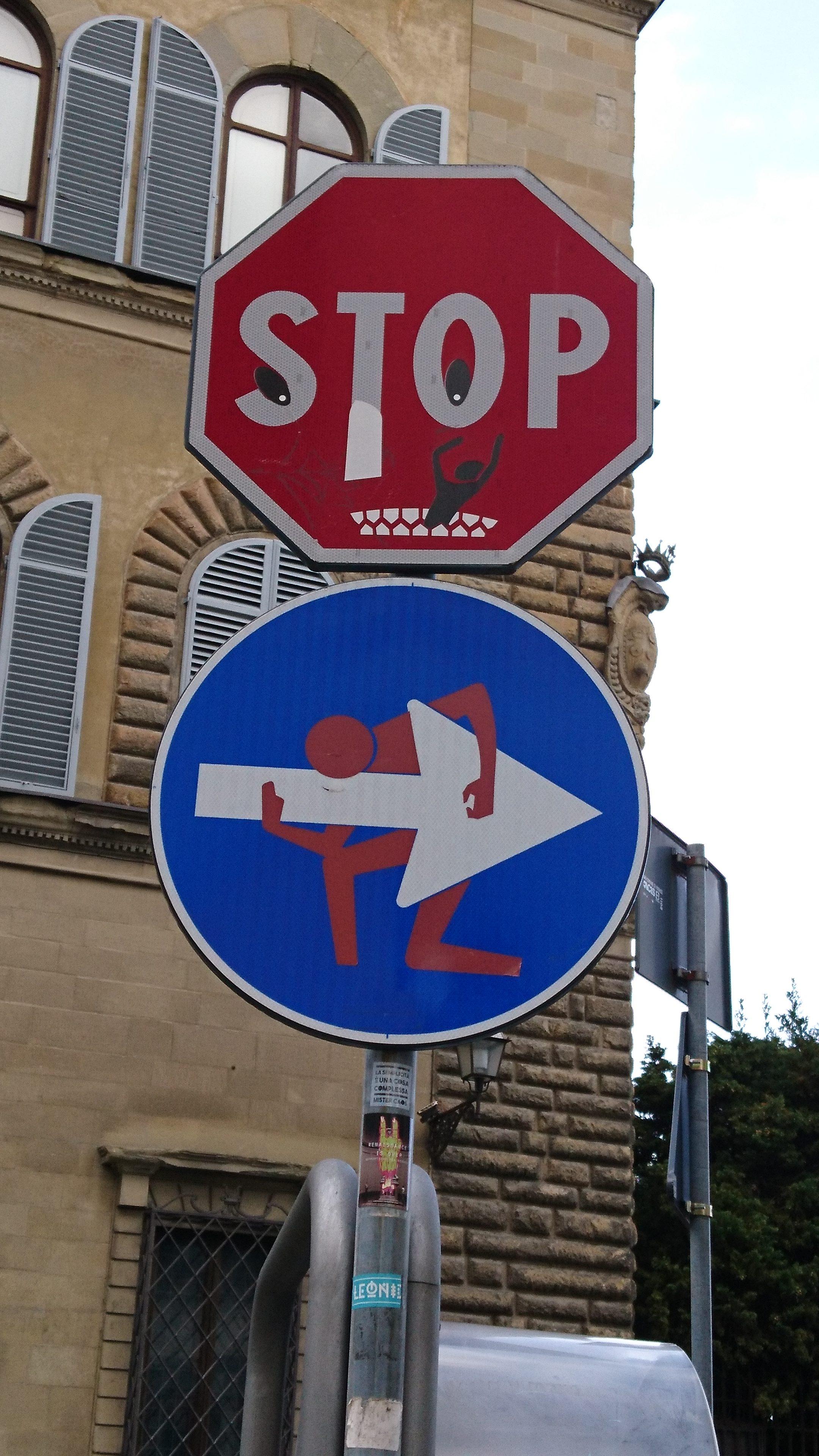 Nicht nur STOP-Schilder werden umgestaltet