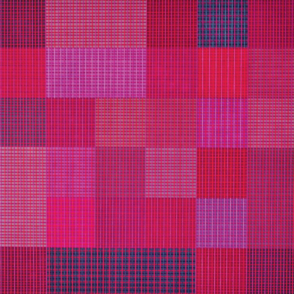 Devaney Claro | Panta Rhei Muc Tessitura 8 | Acryl auf Baumwollfäden auf Leinwand | 60 x 60cm | 2018