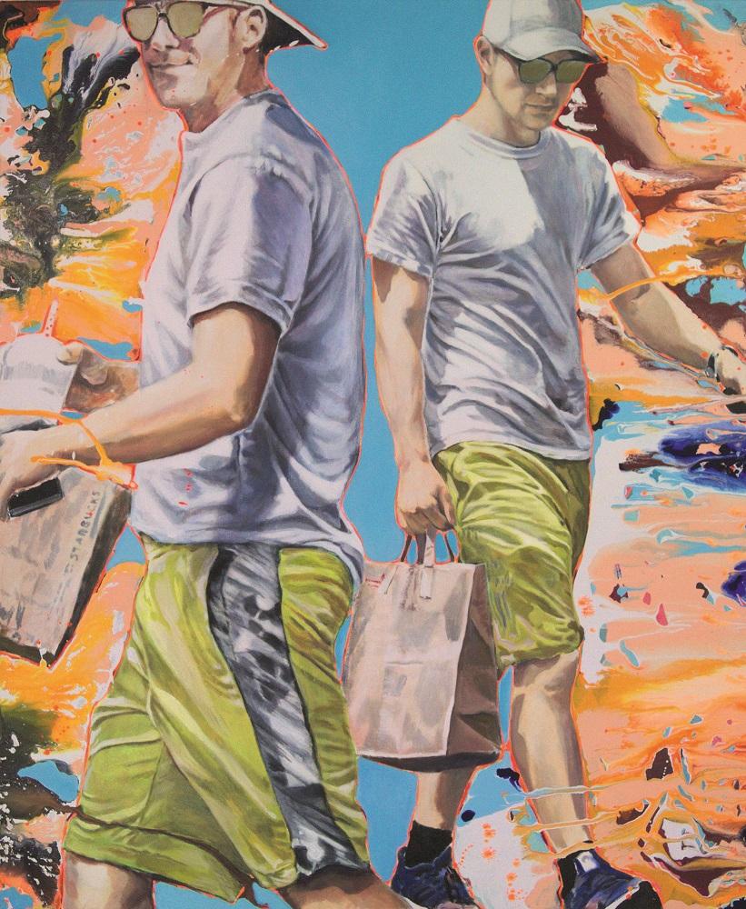 Kerstin Emrich Thomas | sweet mud | Acryl auf Leinwand | 120 x 145 cm | 2018
