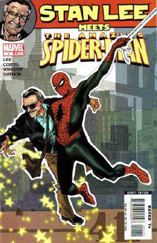 "Stan Lee und seine Erfinung ""the Amazing Spider-Man"""