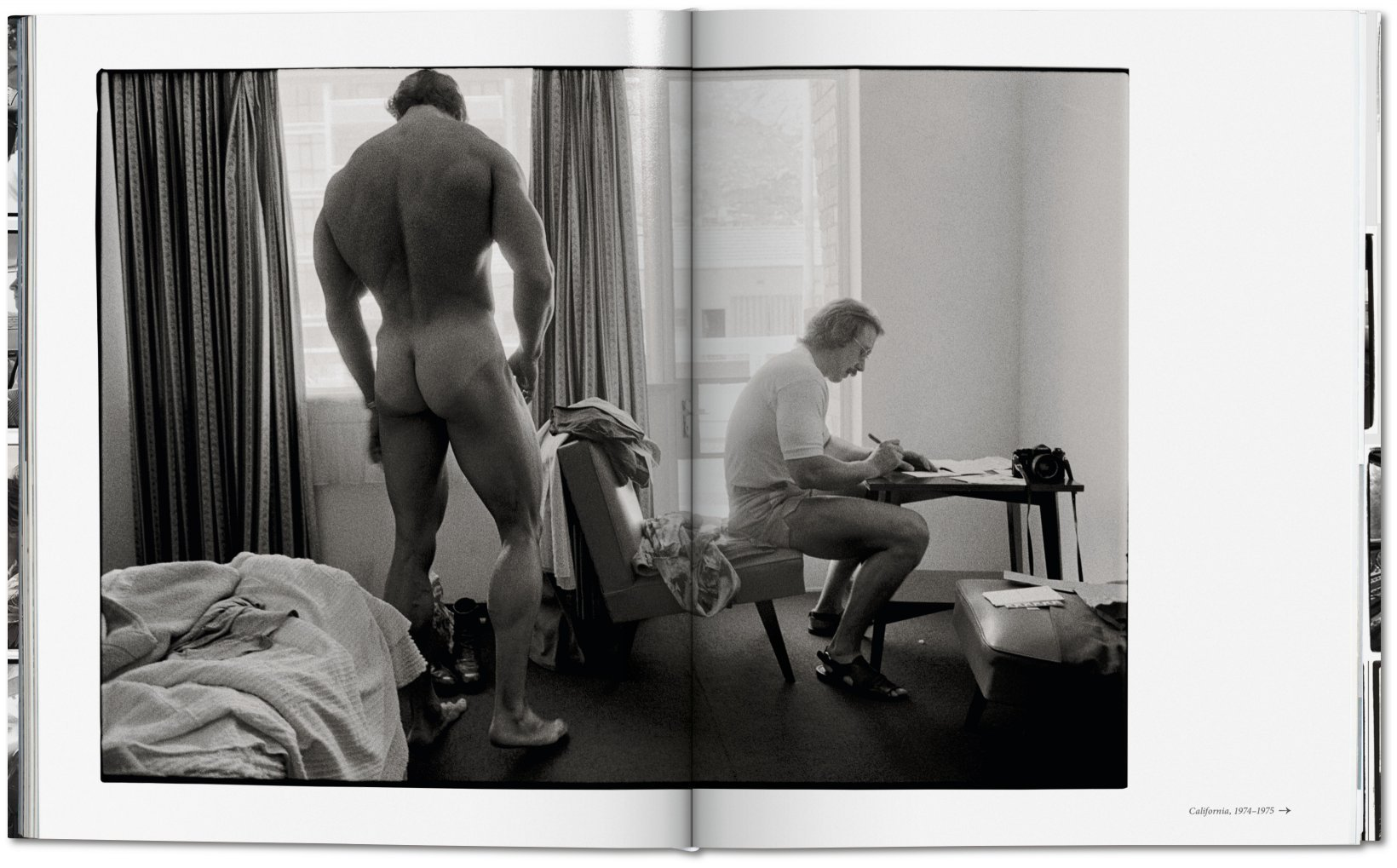 Arnold Schwarzenegger, Mr. Olympia contest, Pretoria, South Africa 1975 | aus: Annie Leibovitz: The Early Years, 1970–1983