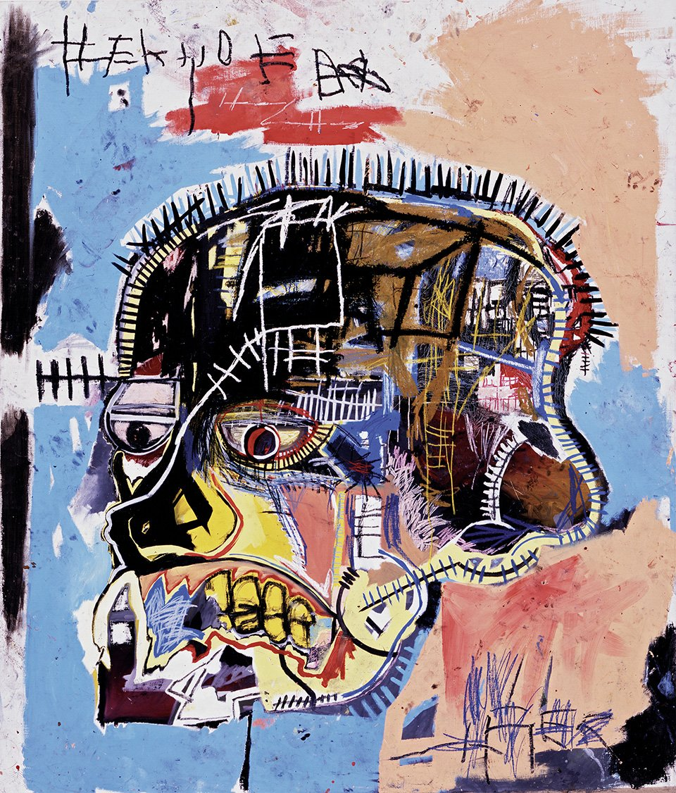 Untitled (Skull), 1981 | Acrylic and oilstick on canvas, 207 x 175.5 cm | Photo: The Eli and Edythe L. Broad Collection| pp. 112/113 | Copyright: © The Estate of Jean-Michel Basquiat. Licensed by Artestar, New York