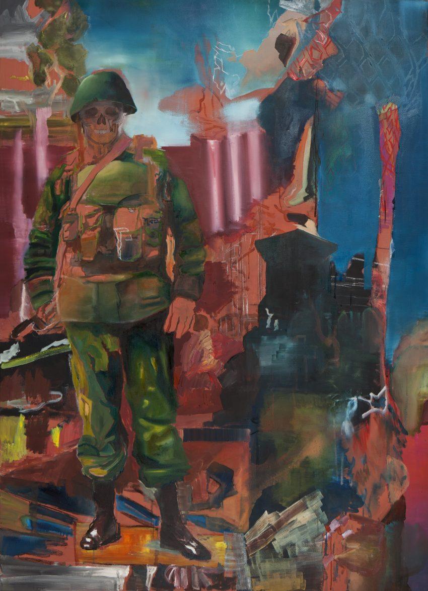 Claudia Magdalena Merk | Der brave Soldat, 2017 | Öl auf Leinwand 180 x 125 cm © Claudia Magdalena Merk