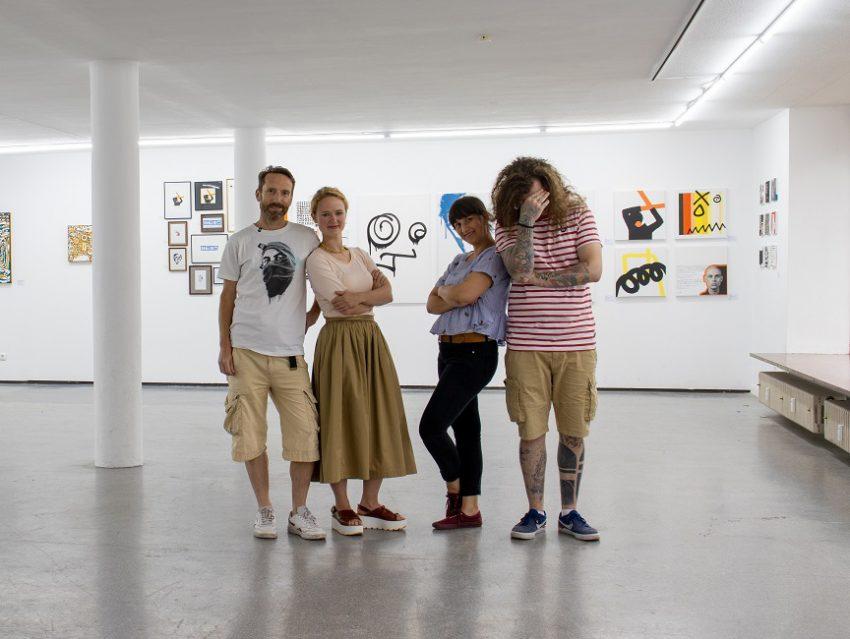 Amiko Art Collective - die ganze Crew! Mitra, Dennis, Veronika und Sven